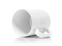 White ceramic mug  on white background Royalty Free Stock Photography