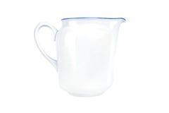 White ceramic pitcher isolated on white background Stock Image