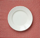 White ceramic plate. Royalty Free Stock Photos