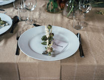 White Ceramic Plate Royalty Free Stock Images