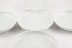 White ceramic plate composition background Royalty Free Stock Image