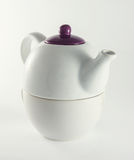 White ceramic teapot Stock Image