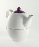 White ceramic teapot Stock Image