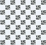 White ceramic tile in square form with black lollipop pattern Royalty Free Stock Images