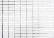 White ceramic tiles pattern wall Background royalty free stock images