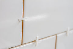 White ceramic tiles Royalty Free Stock Images