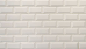 White ceramic tiles texture, imitating white bricks. Suitable for background Royalty Free Stock Images