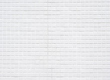 White ceramic tiles wall Royalty Free Stock Images