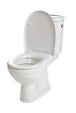 White ceramic toilet Royalty Free Stock Images
