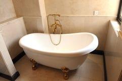 White Ceramic Tub In The Bathroom Stock Photos
