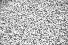 White ceramic tubes. Industrial background Royalty Free Stock Photo