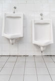 White ceramic urinals Stock Photography