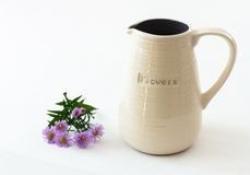 White ceramic vase Stock Image
