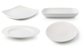 White ceramics plate Stock Images