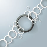White Chain With A Big Black Ring Stock Image