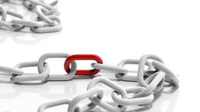 White chain Royalty Free Stock Images