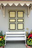 White chair against window Royalty Free Stock Images