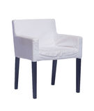 White chair with black legs isolated on white. Background Royalty Free Stock Photos