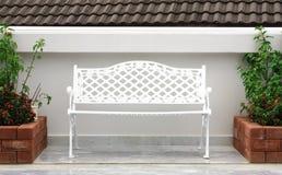white chair garden Royalty Free Stock Photo