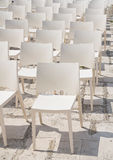 White chair group. Stock Photos