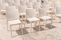 White chair group. Stock Photo