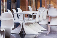 White  chair  in hotel Stock Images