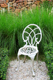 White Chair In Garden Royalty Free Stock Image