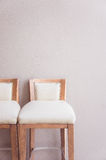 white chair vintage in the living room , modern design interior Royalty Free Stock Photos