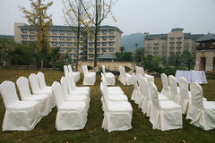White chair on wedding party Royalty Free Stock Photos