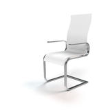 White chair on white background Stock Photos