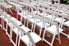 White chairs Royalty Free Stock Photography