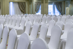 White Chairs Stock Photos