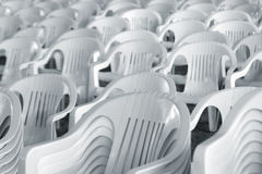 White Chairs Stock Photo