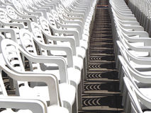 White chairs for a event Royalty Free Stock Photo