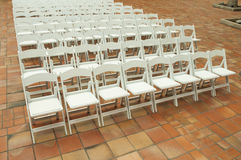 White Chairs Royalty Free Stock Images