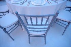 White chairs Stock Photos