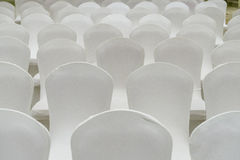 White Chairs Pattern Stock Photos