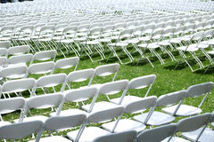 White Chairs Stock Photography