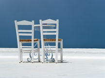 White chairs and the table Royalty Free Stock Photography