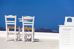 White Chairs And Table Royalty Free Stock Image