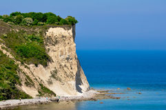 White chalk cliff on the island of Ruegen, Germany Royalty Free Stock Image