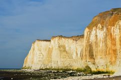 Chalk cliff rock formation. Royalty Free Stock Photo
