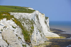 White chalk cliffs of Dover Royalty Free Stock Photos