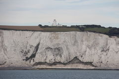 White chalk cliffs Royalty Free Stock Images