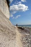 White chalk cliffs on rügen Stock Image