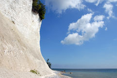 White chalk cliffs on rügen Royalty Free Stock Photography