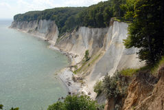 White chalk cliffs on rügen Royalty Free Stock Photos