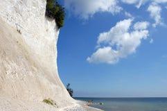 White chalk cliffs on rügen Royalty Free Stock Photography