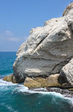 The white chalk cliffs of Rosh ha-Hanikra Stock Image