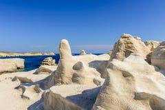 White chalk cliffs Stock Images